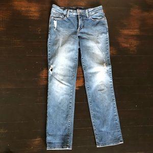 NYDJ distressed boyfriend jeans 2